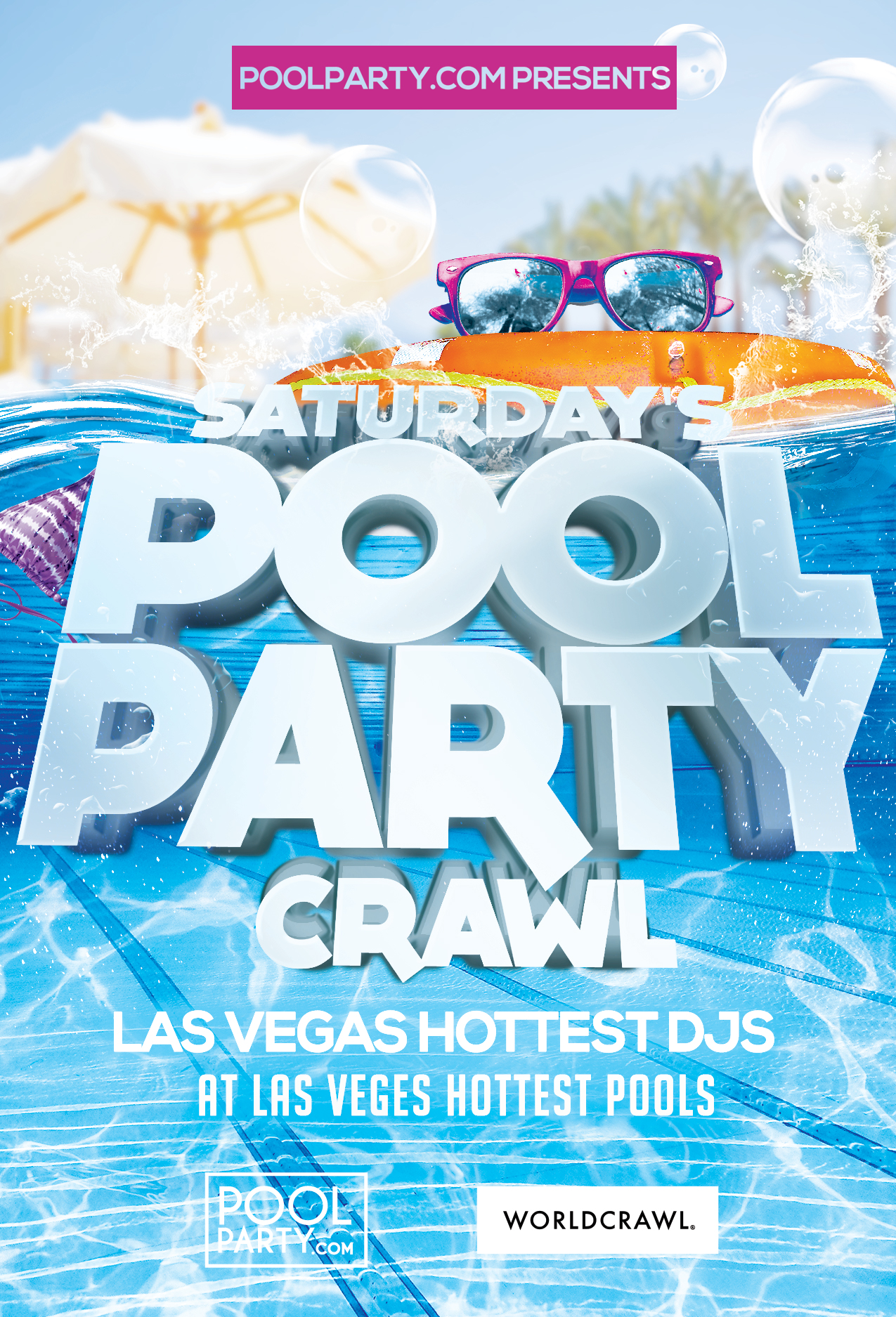 Saturday's PLATINUM Pool Party Crawl (August 10th)