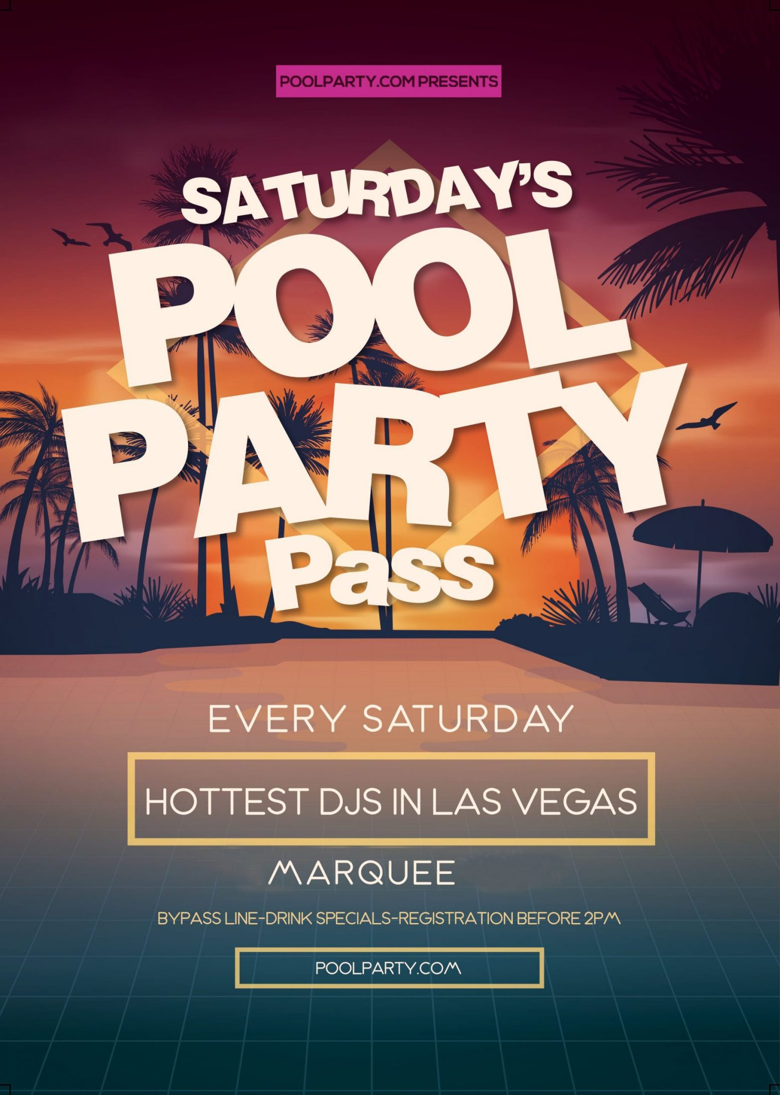 Saturday's Las Vegas Pool Party Pass - Marquee Day Club